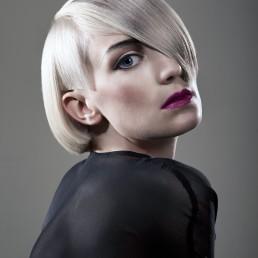 Portrait of a woman with vidal sassoon haircut