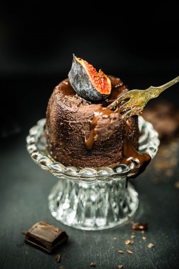 Food Photography Melted Chocolate Pudding