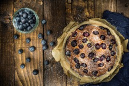 Food Photography pie with Blueberries