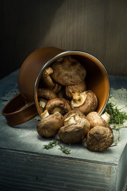 Food Photography with Mushrooms