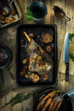 Food Photography Roasted Lamb Leg